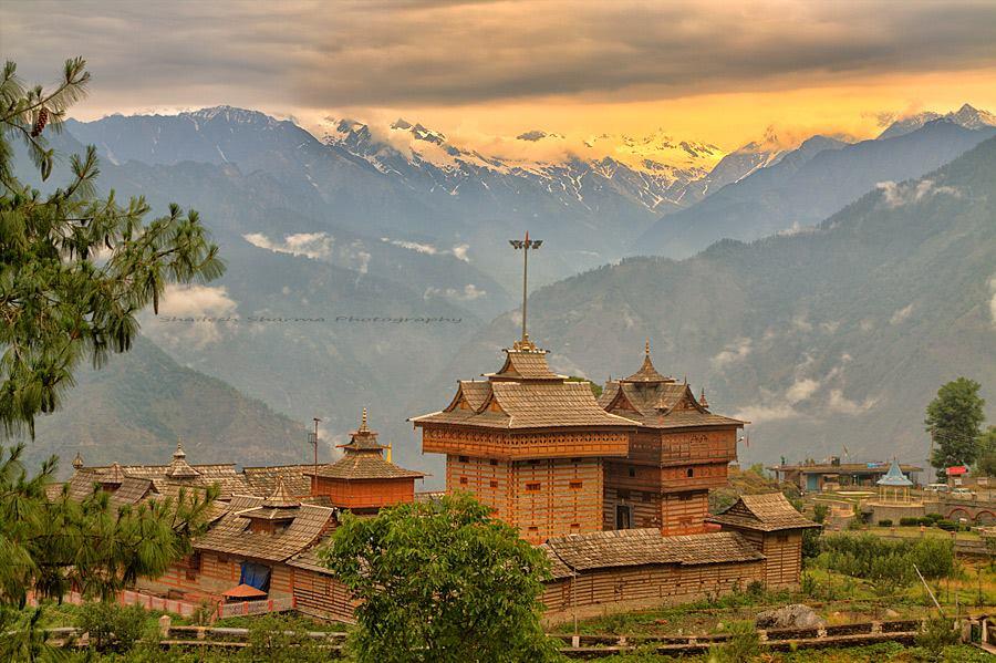 Sarahan temple landscape view