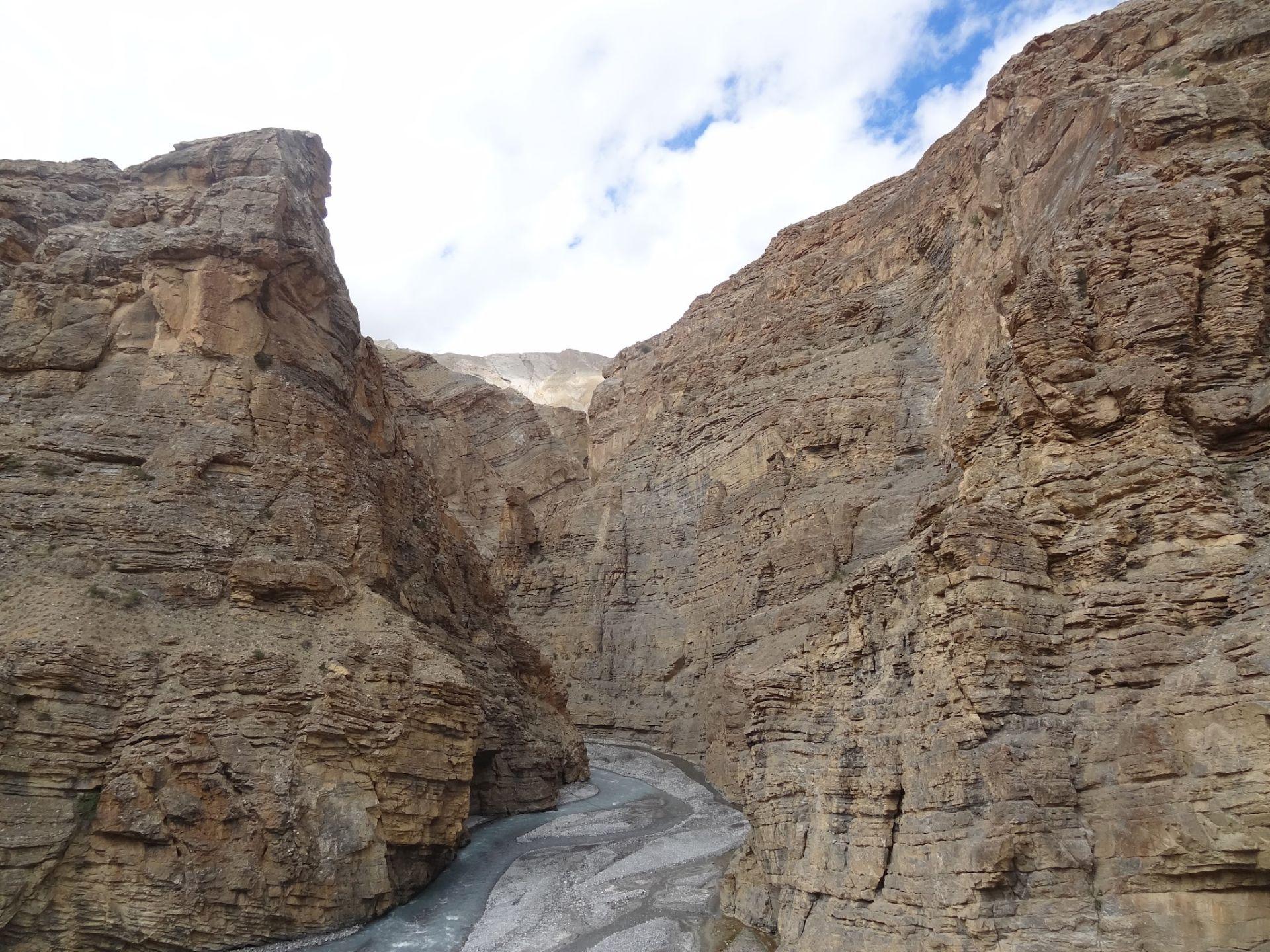 Deep Rong Nala canyon of Spiti valley